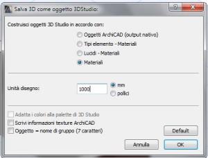 Importare da archicad a 3d studio 3