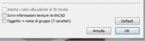 Importare da archicad a 3d studio 5