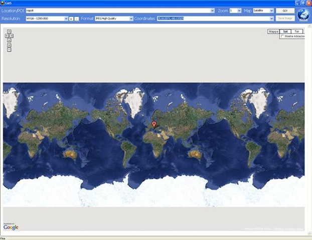 Salvare un ortofoto di googlemap ad alta qualità