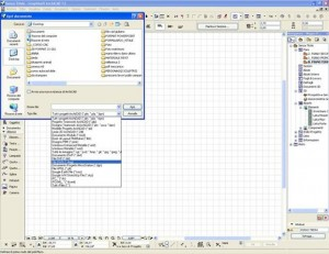 Importare un dwg autocad in archicad 01