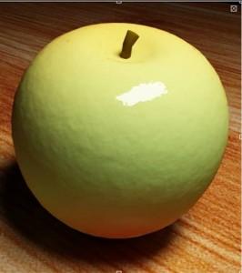 Materiale mela verde con vray e 3d studio max 01