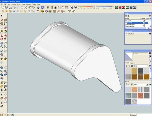 Modellazione escavatore 3d con sketchup 7 p.1