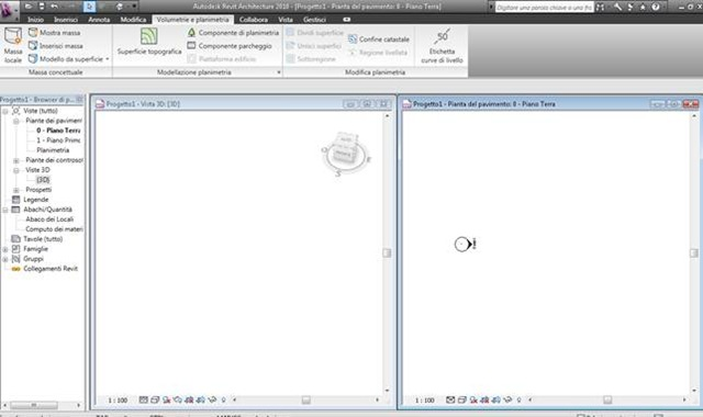 Tutorial revit : volumetrie di studio progetto