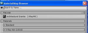 Caricare un file .mat di vray in 3d studio max 2011 07