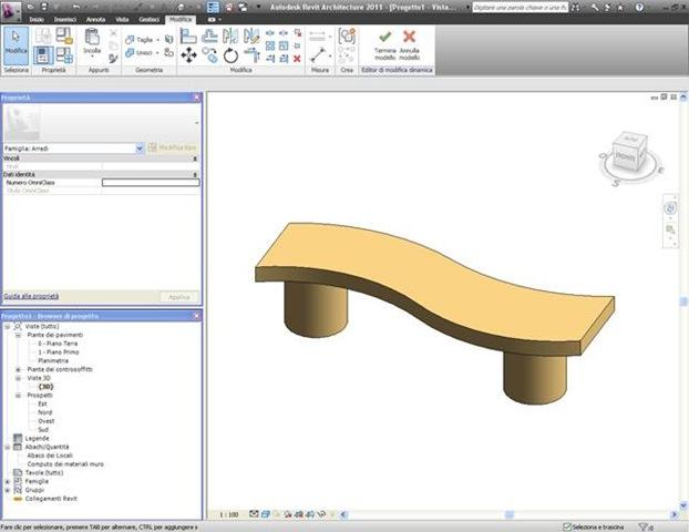 Tutorial revit 2011 creare un nuovo oggetto panchina parte 2 for Piano terra di 380 piedi quadrati