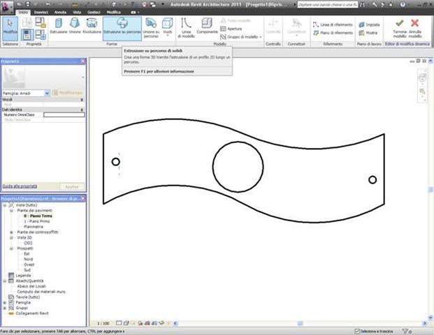 Tutorial revit 2011 : creare un nuovo oggetto panchina parte 3