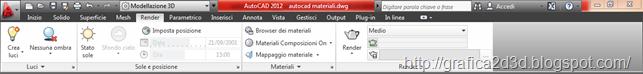 Tutorial autocad 2012 : materiali , luci , render p.1