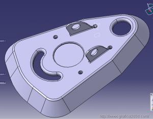 catia v5 : piastrina meccanica 1