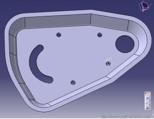 catia v5 : piastrina meccanica 2