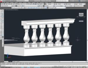 Autocad 3d : modellazione balaustra classica