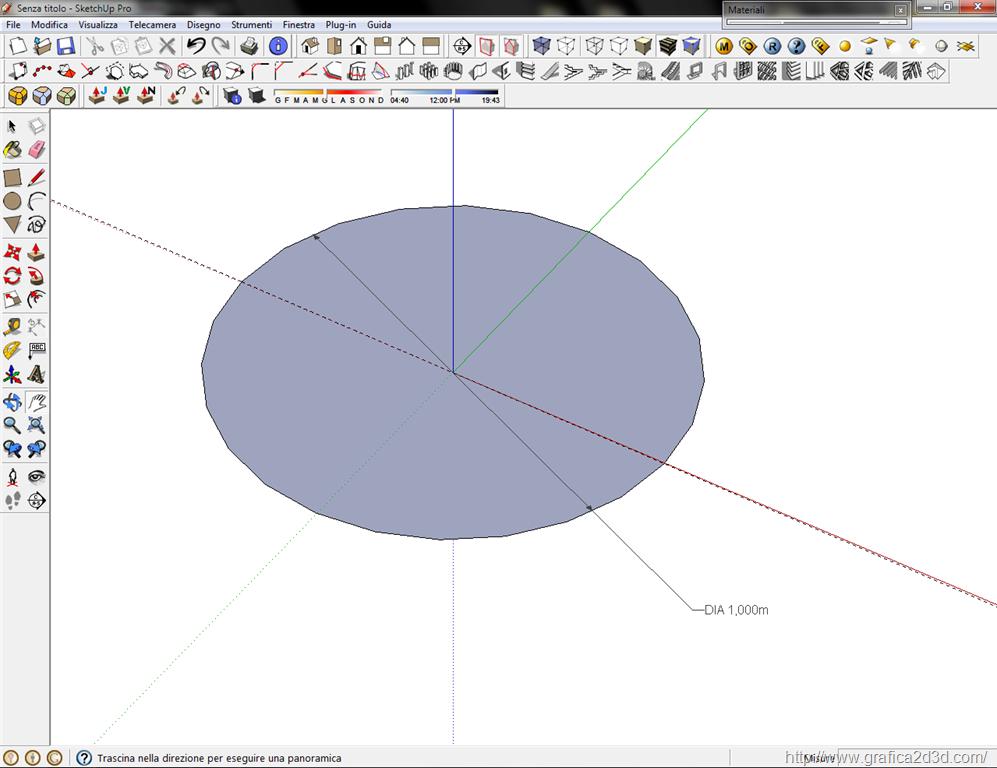 Modellare una sfera con sketchup