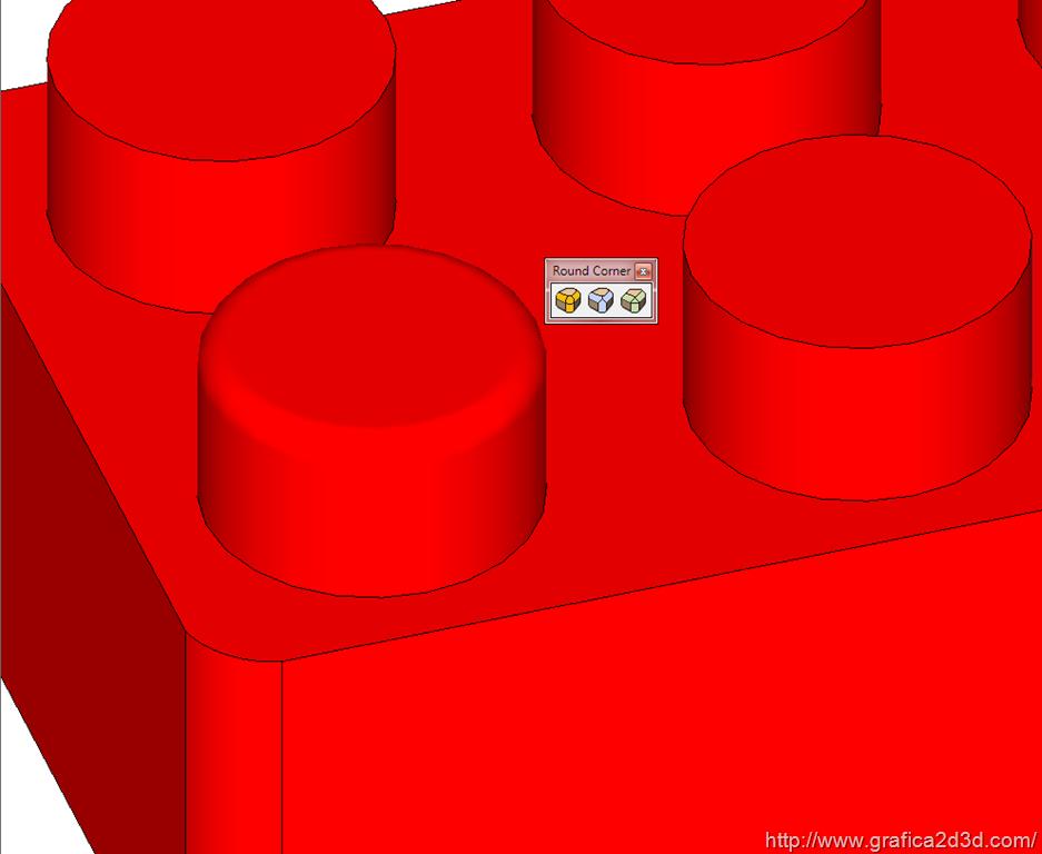 Sketchup : smussare un angolo con round corner