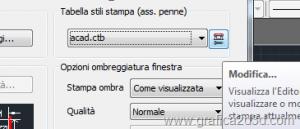 Creare e caricare un file ctb di stampa con autocad