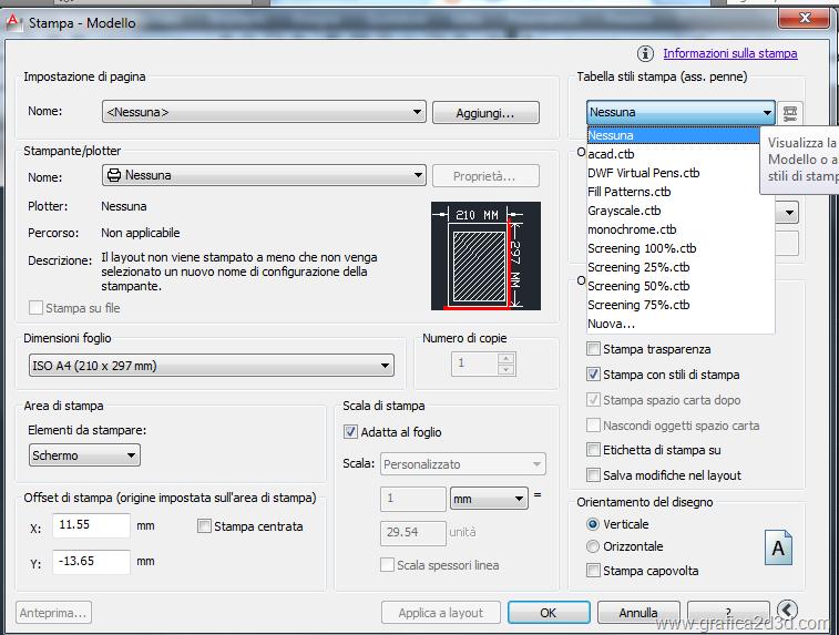 Creare e caricare un file ctb di stampa con autocad for File cad di casa