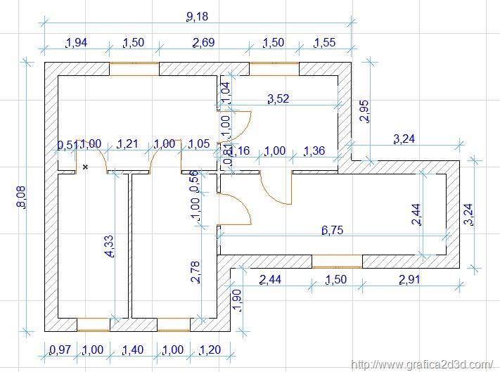 Piantine autocad 2d - Disegno pianta casa ...