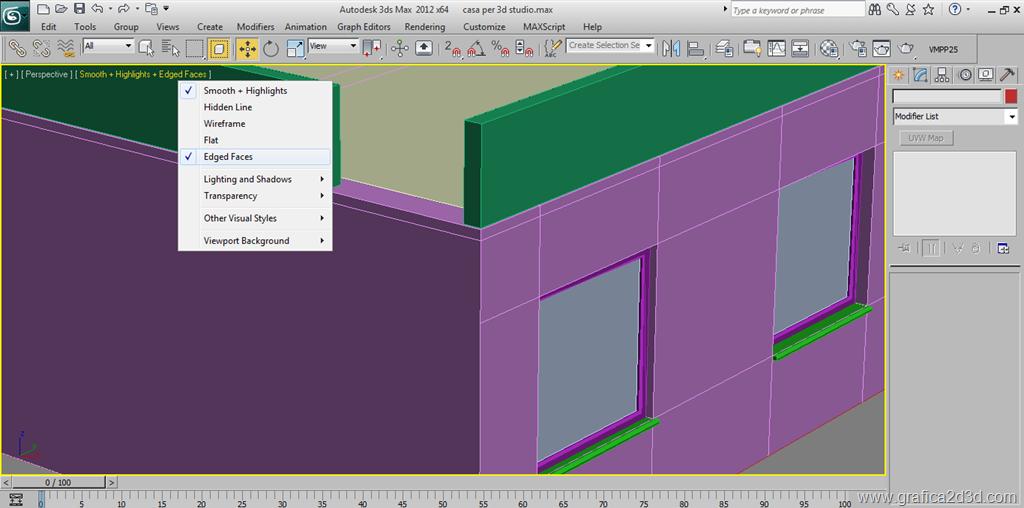 Modellare una casa con 3d studio max pavimento copertura for Posso costruire una casa sulla mia terra