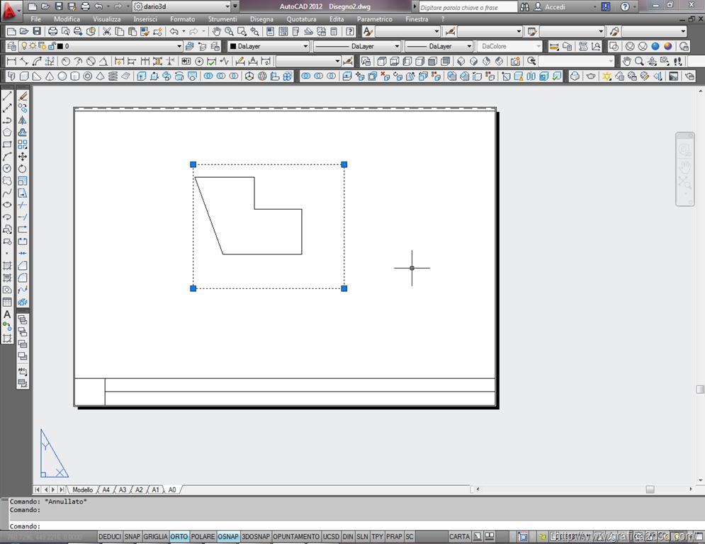 Formato dei fogli nel disegno tecnico con autocad - Uscire da finestra layout autocad ...