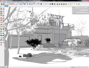 Settaggio render esterno : vray e sketchup 02