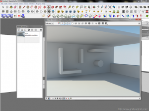 Interno render test sketchup 2013 + vray 2.4