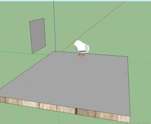 Interior render vray sketchup Eames chair vitra 02
