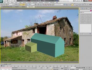 Inserimento fotografico con 3d studio max