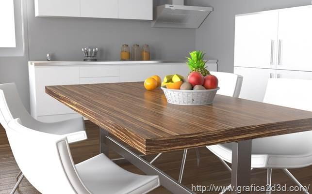 Cucina render 3d studio e vray for Cucina in 3d