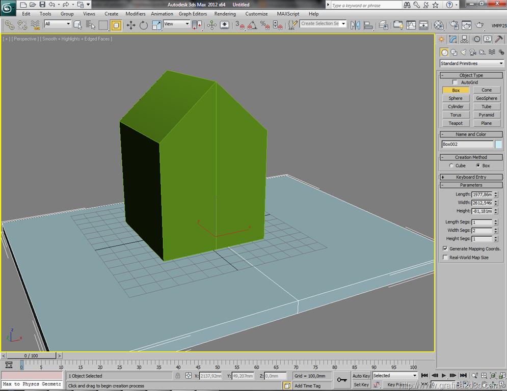 Esportare un modello 3D da 3d studio ad artlantis
