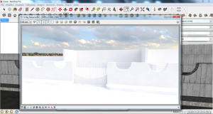 Exterior render vray sketchup with hdri