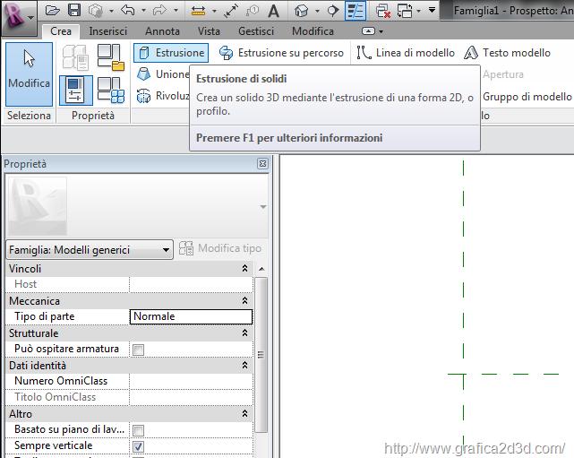 Revit creare un oggetto parametrico 01 for Creare piani di costruzione