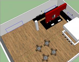 Tutorial vray interior sketchup lounge bar