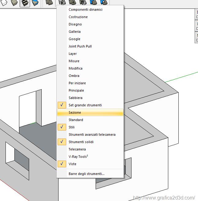 Sketchup 2013 : Sezione da un modello 3d