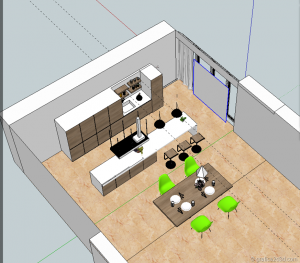 vray sketchup kitchen