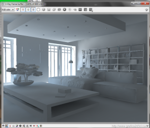 V-ray sketchup  tutorial interior white room