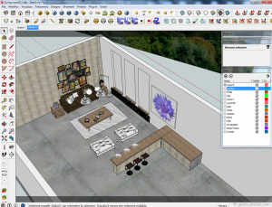 Tutorial vray sketchup interior salone D12