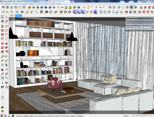Vray sketchup tutorial interior salone 011b