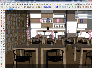 tutorial vray sketchup lounge bar