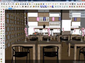 tutorial vray sketchup lounge bar