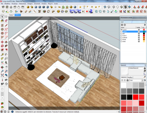 Vray sketchup tutorial interior salone 011c