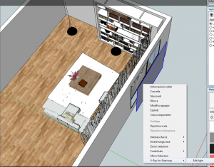 Vray sketchup tutorial interior salone 011d