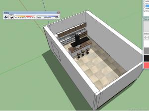 making of tutorial kitchen vray sketchup b