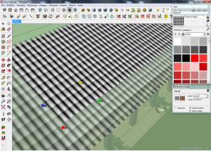 Tutorial tegole tetto displace vray sketchup 05