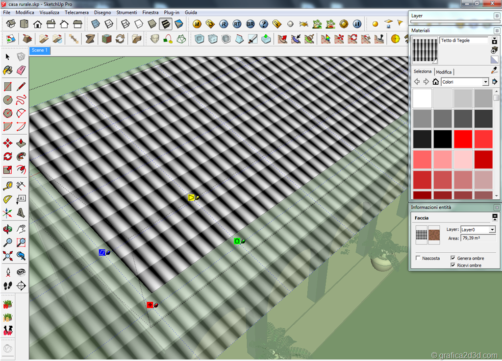 Tutorial tegole tetto displace vray sketchup