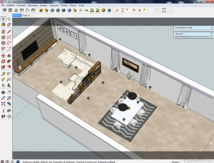 Sketchup tutorial interior #111 e