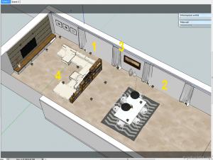 Sketchup tutorial interior #111 f