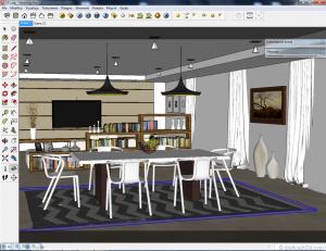 Sketchup tutorial interior #111 c