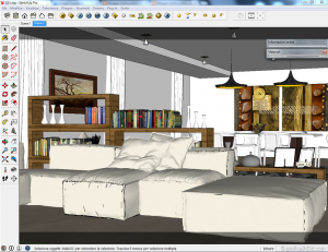 Sketchup tutorial interior #111 d