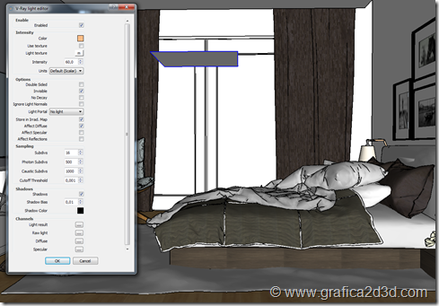 Hotel room vray sketchup