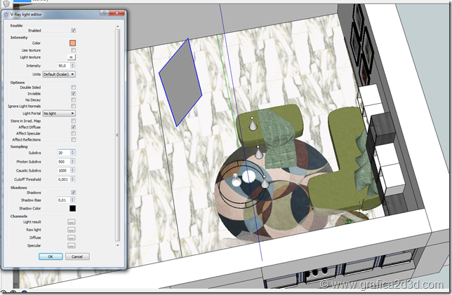 Interior tutorial vray sketchup