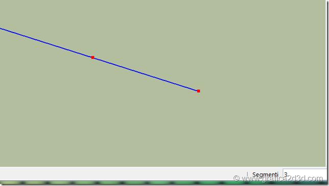 Sketchup dividi linea in un numero di parti