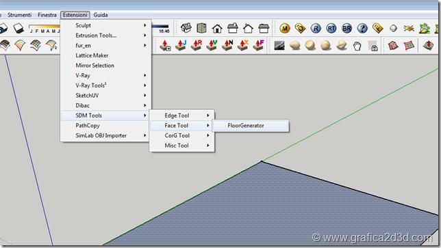 Plugin sketchup FloorGenerator per creare pavimentazioni 3d